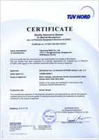 TUV NORD_QA System acc. to Pressure Equipment Directive 97/23/EC